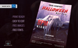 Halloween Night Party Flyer Corporate Identity Template