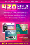 Premium 420 Animated Html5 Banners Bundle