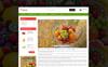 Tema de PrestaShop para Sitio de Alimentos congelados Captura de Pantalla Grande