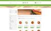 "PrestaShop шаблон ""Vegan Food Store"" Большой скриншот"