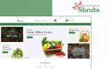 """Vegetable Shrub - Organic Food Store"" 响应式PrestaShop模板"