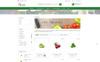 """Vegetable Shrub - Organic Food Store"" 响应式PrestaShop模板 大的屏幕截图"