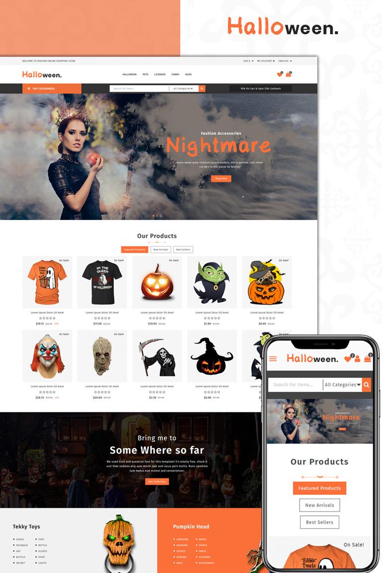 halloween store prestashop theme #73938