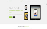 Boosting-Responsive Landing Page Template