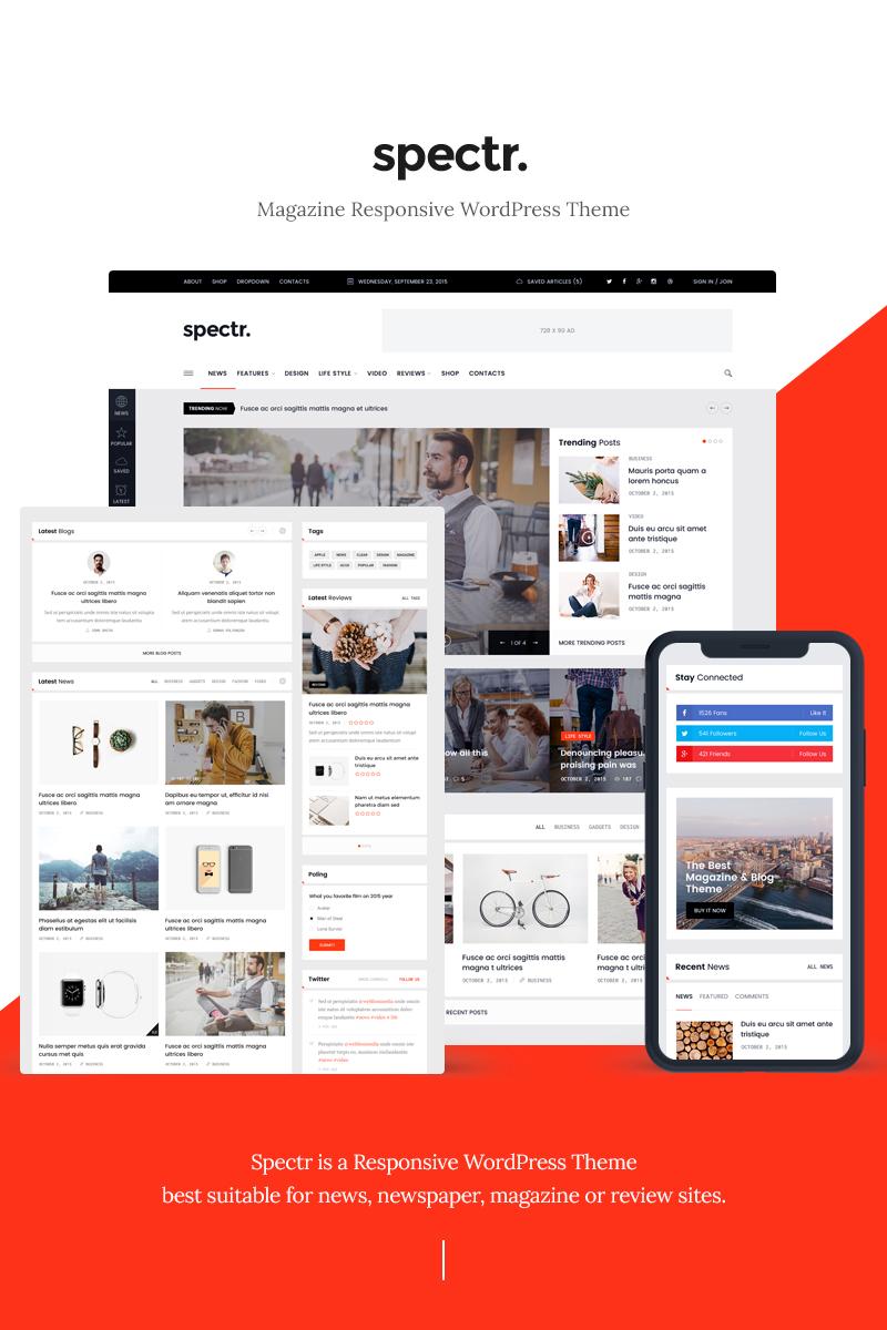 Адаптивный шаблон №77730 на тему бизнес и услуги, медиа-сайт, новостной портал