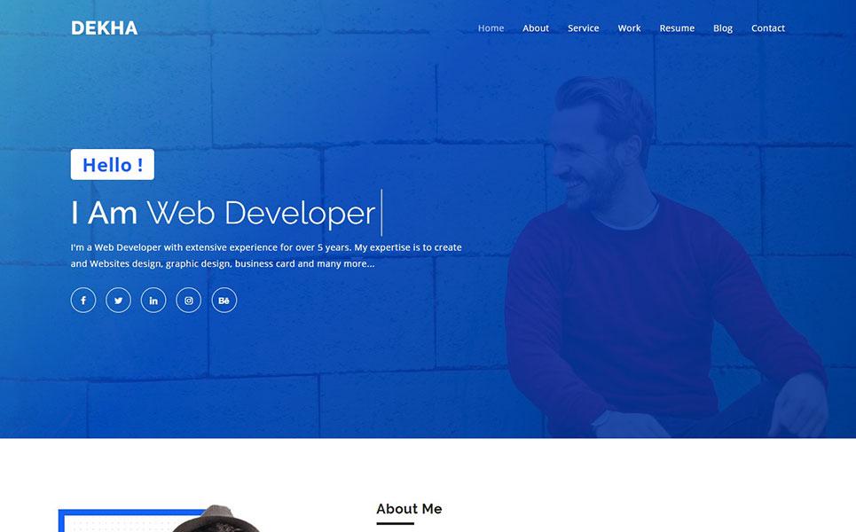 Plantilla para landing page - Categoría: Arte y fotografía - versión para Desktop
