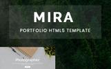 Mira - Creative Resume/Portfolio Landing Page Template