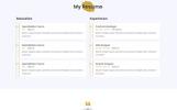 """Mira - Creative Resume/Portfolio"" Responsive Landingspagina Template"