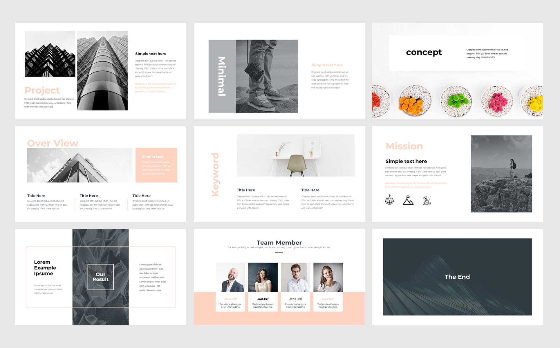 creative minimal presentation