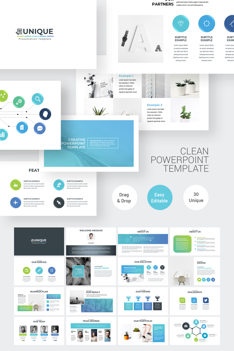 Clean Simple Powerpoint Template  74618