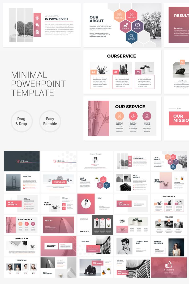 Clean Minimal Presentation PowerPoint Template #75798
