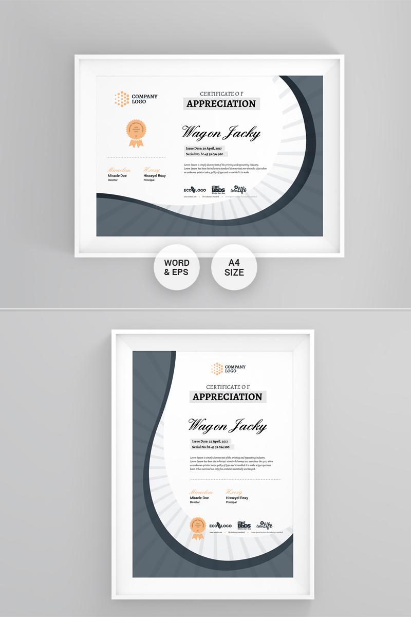 corporate modern certificate template 75896