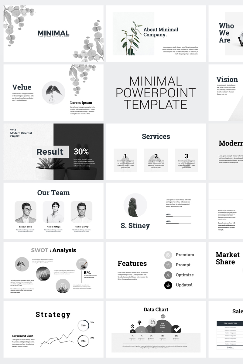 Minimal Clean Business Presentation Point Template