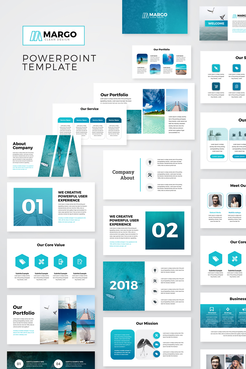 Margo Modern Presentation Powerpoint Template  76722
