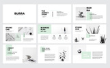 """Burra Clean Simple Presentation"" modèle PowerPoint"