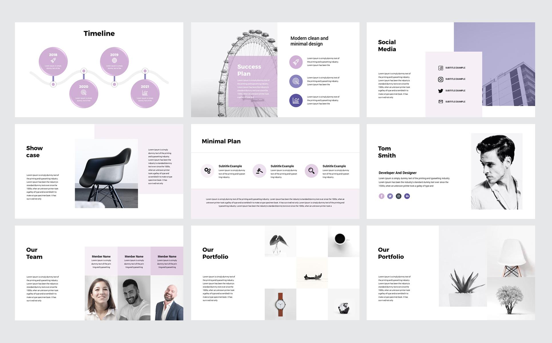 Minimal Presentation PowerPoint Template