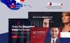 """""""Politicalo - Political and Candidate"""" thème WordPress Bootstrap Grande capture d'écran"""