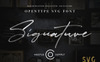 JV Signature SVG - Opentype SVG Font Big Screenshot