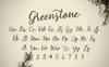 Greenstone Script Fonte №73251 Screenshot Grade