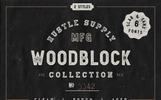 Woodblock Collection - Sans & Slab Font