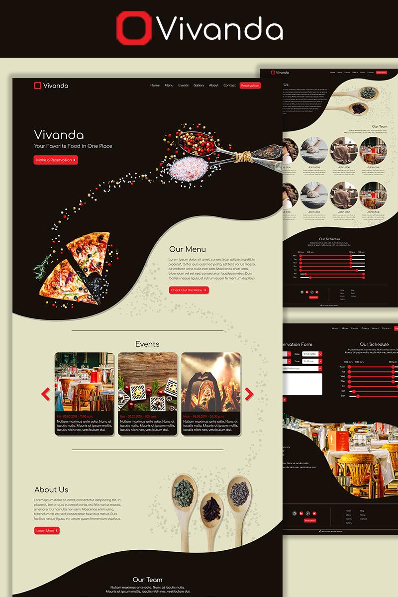 Vivanda restaurant psd template 73572 maxwellsz