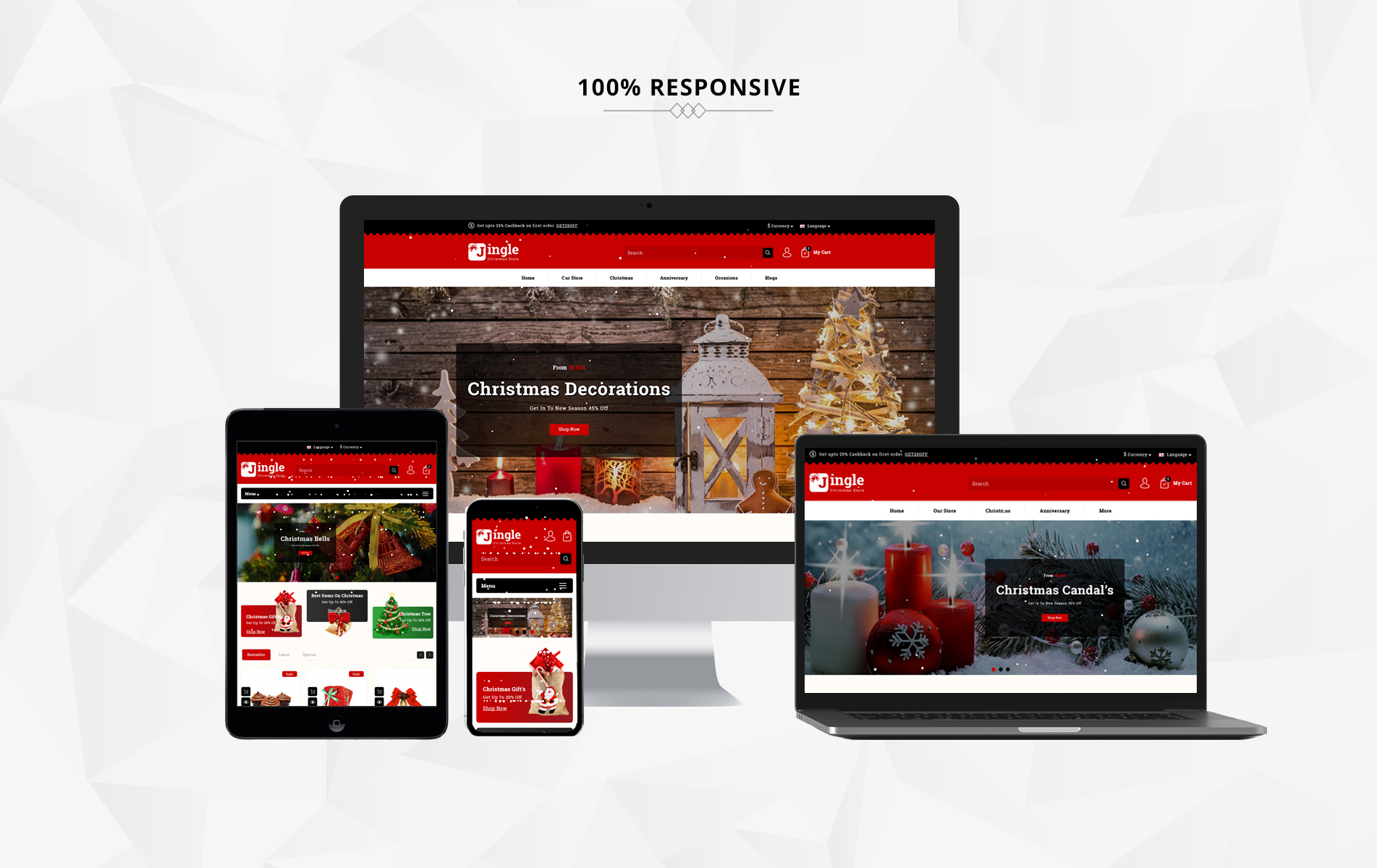 Jingle Gift Store 3.x OpenCart Template