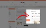 Responsywny szablon OpenCart Dora Furniture Shop #77967