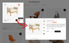 """Dora Furniture Shop"" thème PrestaShop adaptatif Grande capture d'écran"