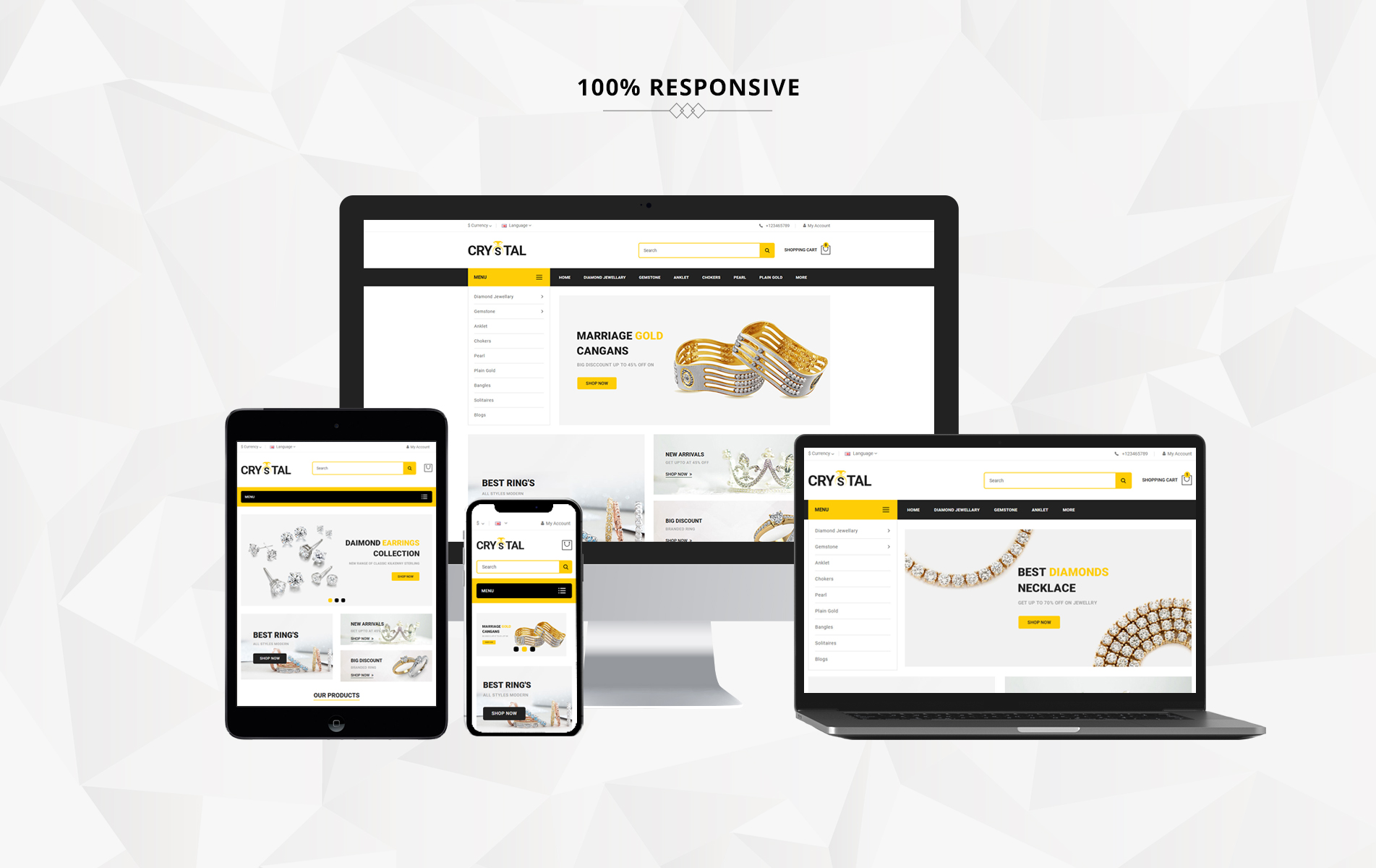 Crystal Jewelry OpenCart Template
