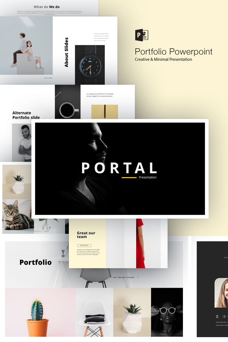 portfolio powerpoint template 75689