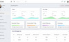 """ECab - Taxi Admin Bootstrap 4 Material"" 响应式控制面板模板 大的屏幕截图"