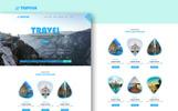 Szablon PSD Travilla - Multipurpose Tours & Travel #74250