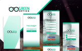 GreenOptics - Specs Store App PSD UI Elements