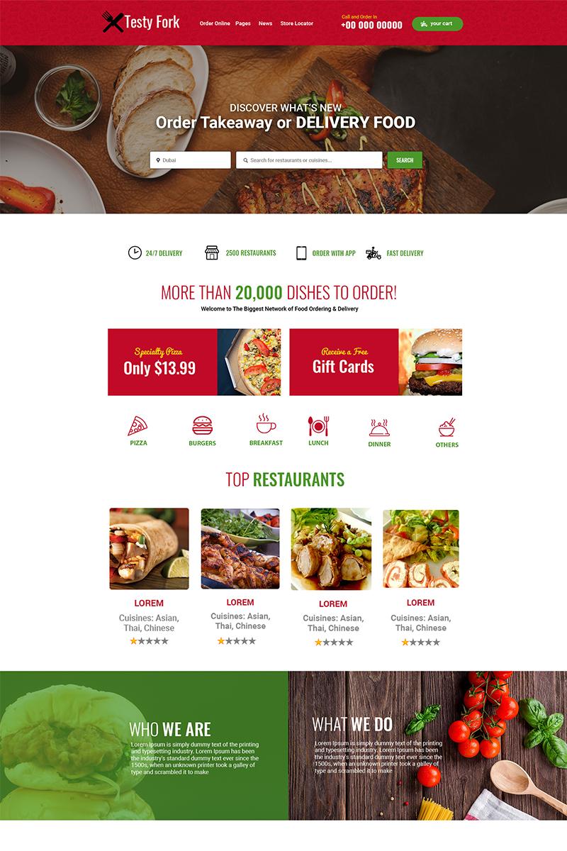 testyfork multipurpose restaurant psd template 75753