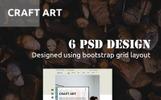 "Bootstrap PSD šablona ""CraftArt"""