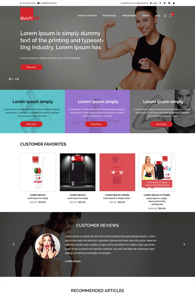 5af698756bc8c Beauty Fit - Ecommerce PSD Template  79868