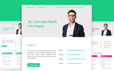 "Landing Page Template namens ""MAKma HTML5 Resume Template"""