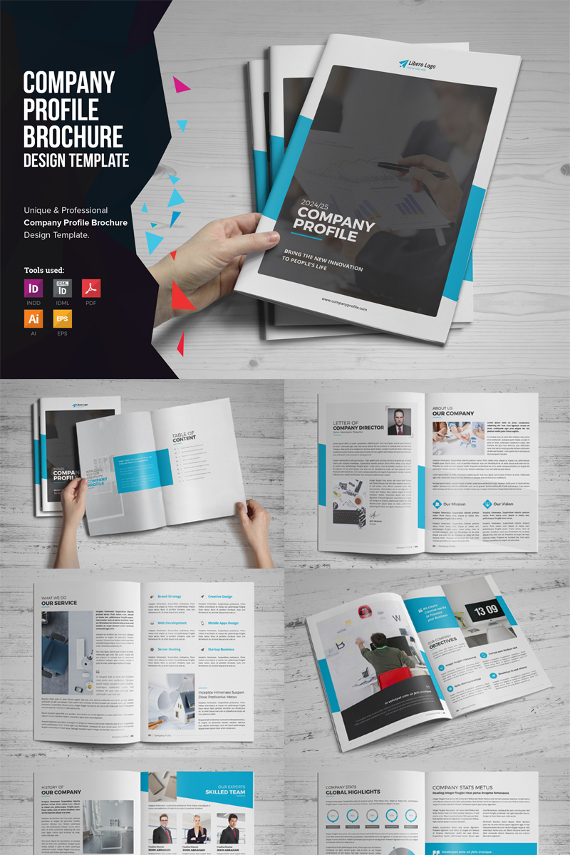 company profile design template ai