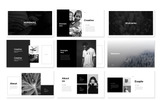 Black & White Presentation PowerPoint Template