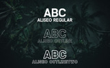 Font Aliseo Font Family - Sans Serif #74192