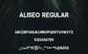 Font Aliseo Font Family - Sans Serif #74192 Duży zrzut ekranu