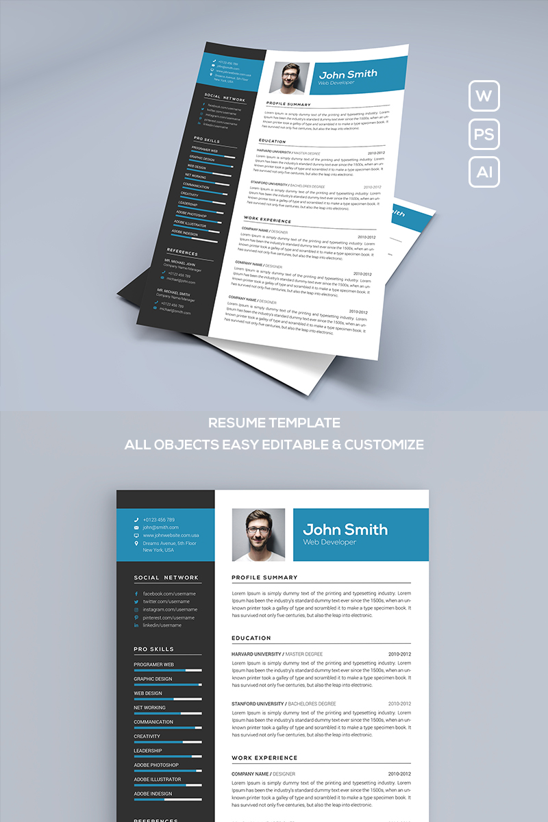 john smith resume template  75286