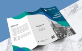 Business Growth Tri-fold Brochure Corporate Identity Template