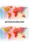 Watercolor World Map Pattern