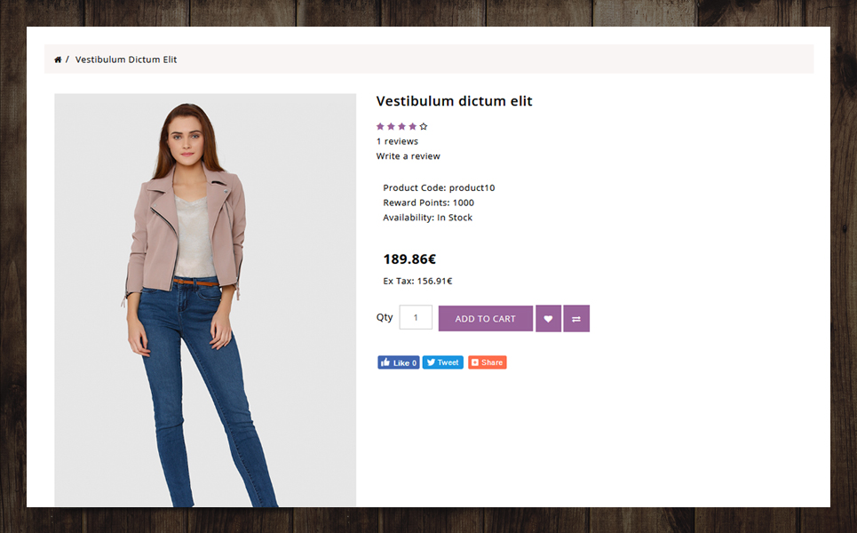 F-Style Fashion Store OpenCart Template