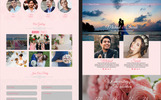 """Shining Wedding"" Responsive Landingspagina Template"