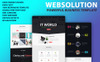 "Landing Page Template namens ""Web Solution"" Großer Screenshot"