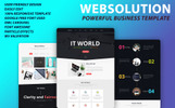 "Landing Page Template namens ""Web Solution"""