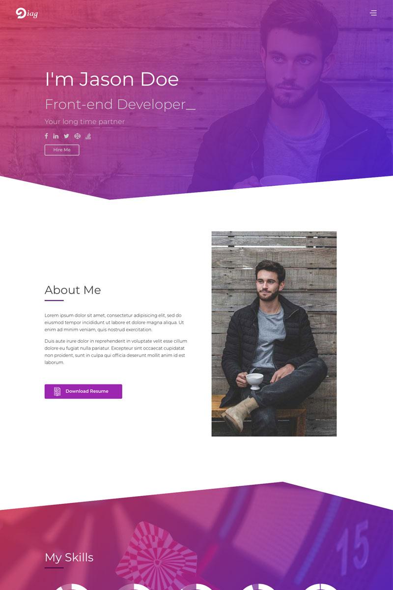 Diag Personal Portfolio Website Template 75678