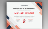 Michael Knight Corporate Modern Certificate Template